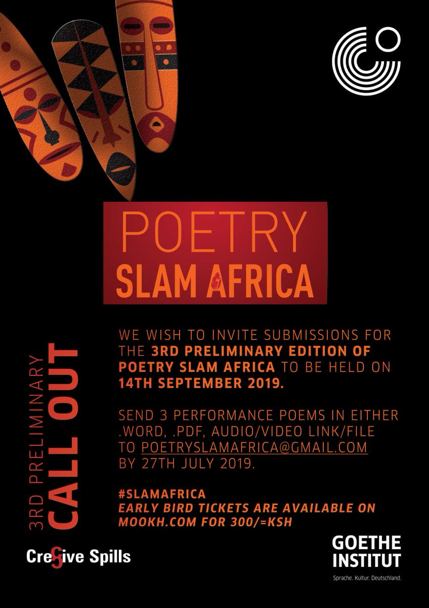 POETRY SLAM AFRICA – 3RD PRELIMINARY CALL OUT