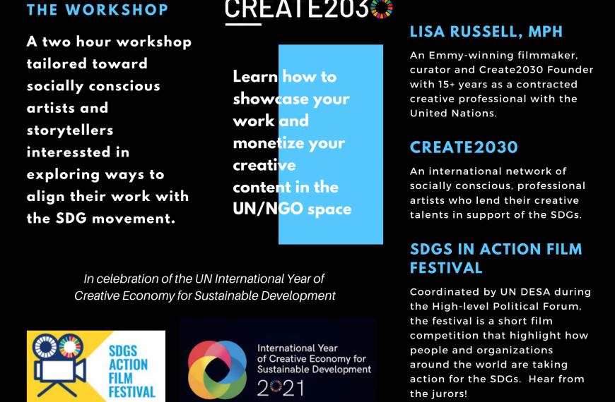 Create2030 SDGs Arts and Storytelling Workshop.
