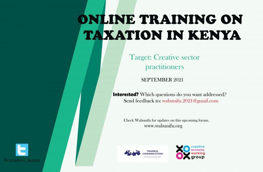 ONLINE TRAINING ON TAXATION IN KENYA