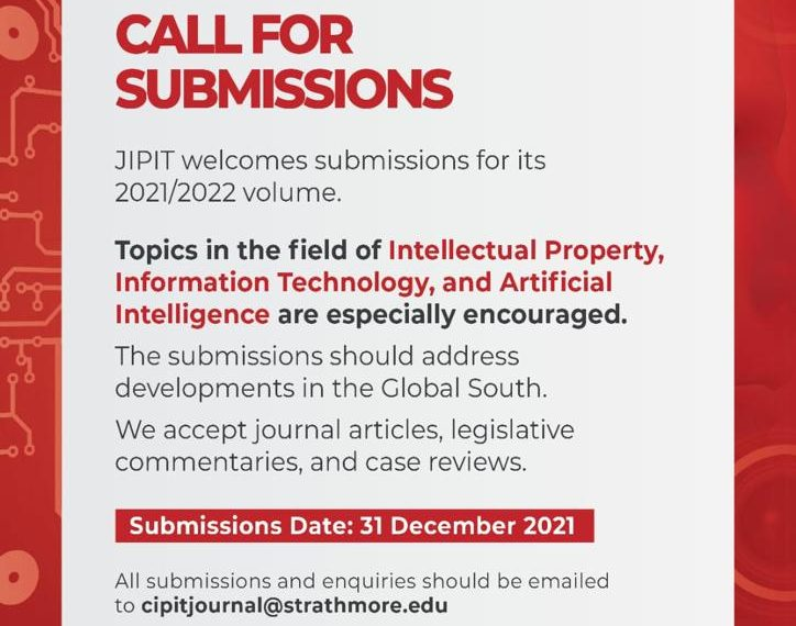 THE JOURNAL OF INTELLECTUAL PROPERTY AND INFORMATION TECHNOLOGY LAW (JIPIT)