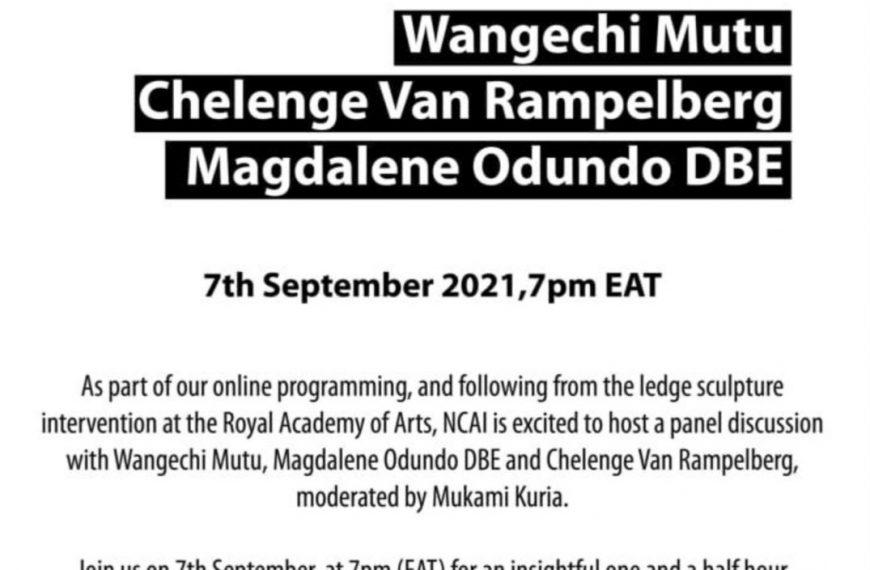 Women in Sculpture Panel Discussion with Wangechi Mutu, Magdalene Odundo DBE and Chelenge Van Rampelberg. Moderated by Mukami Kuria.
